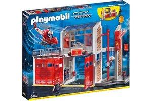 Playmobil Grote brandweerkazerne met helicopter - 9462