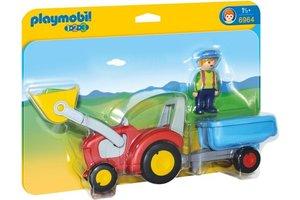 Playmobil Boer met tractor en aanhangwagen - 6964