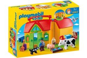 Playmobil PM 1.2.3 - Meeneemboerderij met dieren 6962