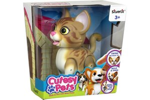 Silverlit Cutesy Pets Robot Kat (wit/beige) - 15cm