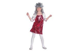 Kostuum Glittermeisje paars-zilver