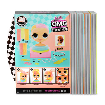 MGA Entertainment L.O.L. Surprise! OMG Styling Head Neonlicious Poppenhaarstylingset