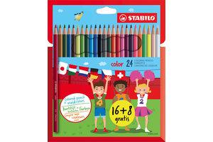 Stabilo Stabilo Color Kleurpotloden - Etui 16+8 gratis