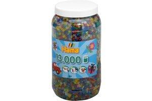 Hama Strijkkralen Hama Strijkkralen in pot - Transparantmix (053) 13000stuks