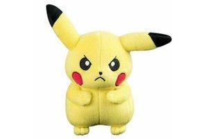 Pokémon Pluche Pikachu (knorrig) 20cm