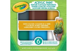 Acryl verf Aarde tinten - 6stuks
