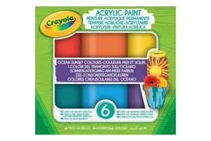 Acryl verf Ocean-Sunset tinten - 6stuks