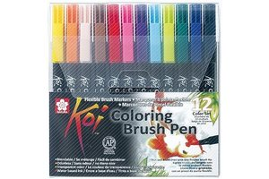 Sakura Koi Coloring Brush Pen - 12stuks