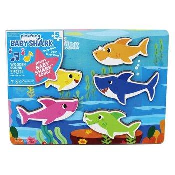 Baby Shark - Puzzel (hout) met geluiden (5 haaien vormen)