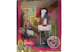 Mattel Barbie - Kapsalon + pop