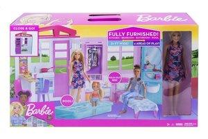 Mattel Barbie Close & Go! Compact huis met pop en accessoires