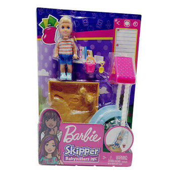 Mattel Barbie Skipper Babysitter - Glijbaan en zandbak