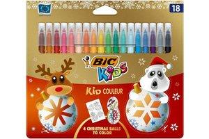 """Bic Christmas Edition - BIC Kids Viltstiften """"Kid Couleur"""" - 18stuks"""