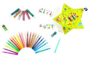 Bic BIC Pinata Party (24 viltstiften Kid Couleur/2x lijmstift/6x glitterlijm)