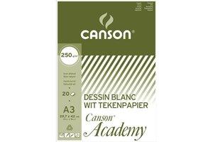 Canson Tekenblok Academy A3 (297x420mm) 200gr/50vel - wit