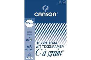 """Canson Canson Tekenblok """"C à Grain"""" A3 (420x297mm) 224gr/20vel - wit"""