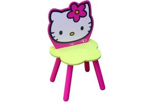 hello kitty houten stoeltje in bloemvorm