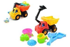 Zandbak auto met accessoires - 7stuks