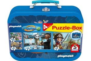 Puzzel 4-in-1 (2x60/2x100stuks) Playmobil - Super 4