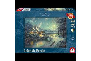 999 Games Puzzel (500stuks) - Christmas Moonlight
