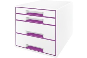 Esselte WOW desk cube wit/paars