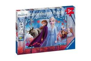Ravensburger Puzzel (2x12stuks) - Disney Frozen 2 - Reis naar het onbekende