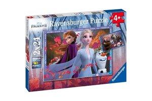 Ravensburger Puzzel (2x24stuks) Disney Frozen 2 - IJzige avonturen