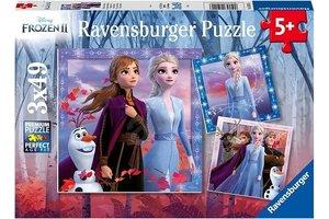 Ravensburger Puzzel (3x49stuks) - Disney Frozen 2 - De reis begint