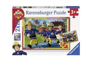 Ravensburger Puzzel (2x12stuks) Brandweerman Sam - Sam en zijn team