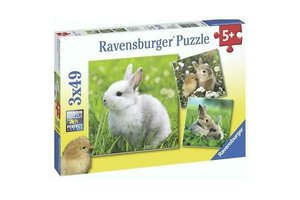 Ravensburger Puzzel (3x49stuks) - Schattige konijntjes