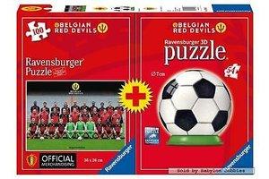 Ravensburger Puzzel Red Devils 100st + 3D puzzel