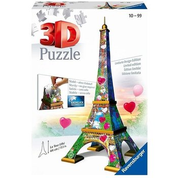 Ravensburger 3D Puzzel (216stuks) - Eiffeltoren (Parijs) Love Edition