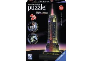 Ravensburger 3D Puzzel (216stuks) - Empire State Building - Night Edition