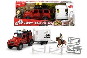 Dickie Toys Horse Trailer Set met licht/geluid (Mercedes-AMG500 + Trailer 40cm)