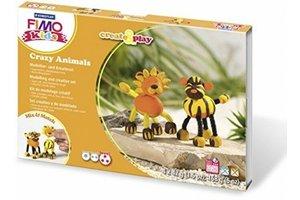 staedtler Set Modelleerklei Fimo kids Create&Play - gekke dieren (leeuw & tijger)