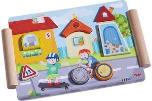 Haba Houten puzzel bouwen en rijden
