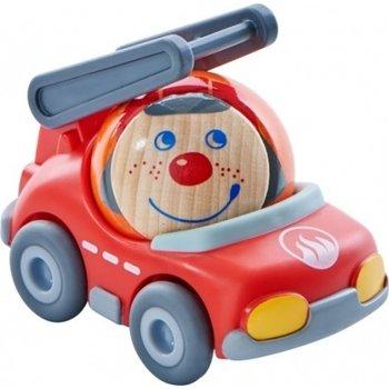 Haba Brandweerauto Frido (auto met vliegwielmotor) voor kogelbaan rollebollen