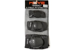 Maple Leaf Beschermset 3-Pack Senior Basic Move (zwart) - medium