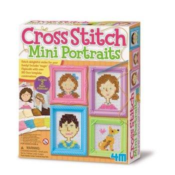 4M Crea Easy Knit - Borduurkunst mini portretten