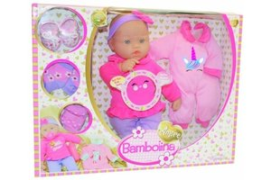 Bambolina Amore Babypop 36cm met 4 melodieën + extra outfit