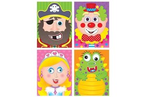GALT Sticker Puzzles Funny Faces