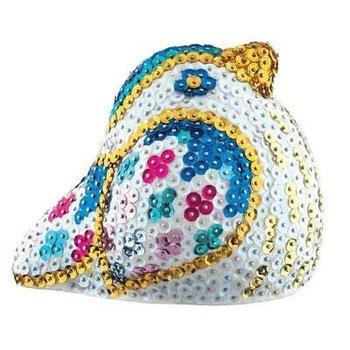 3D Sequin Art - Zangvogel