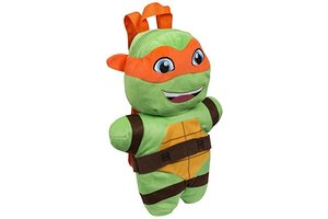 Sambro Teenage Mutant Ninja Turtles - Rugzak/knuffel pluche Raphael