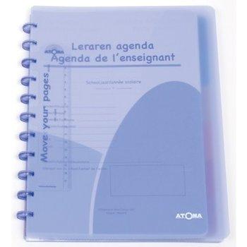 Atoma Atoma Lerarenagenda PP A4+/6 tussenbladen/5 pochetten - transparant