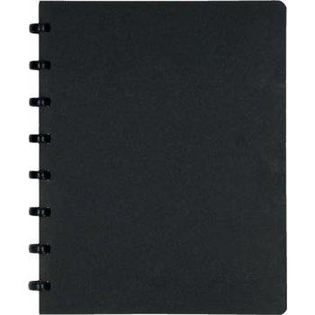 Atoma Atoma Meetingboek A5 gelijnd zwart karton