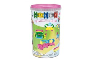 Clics Clics - Build & Play Tube Glitter 16-in-1