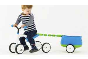 Quadie 4-wieler + trailer - blauw