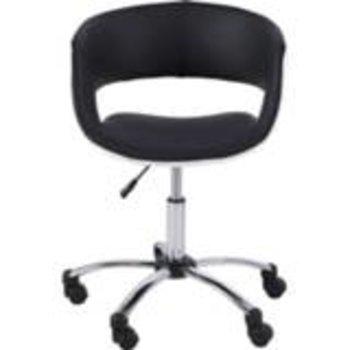 Bureaustoel GRACE zwart/wit & voet in chroom