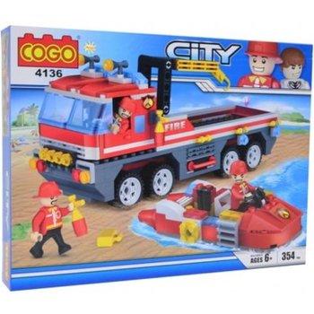 Cogo Blocks CITY - Brandweerwagen met boot 354stuks