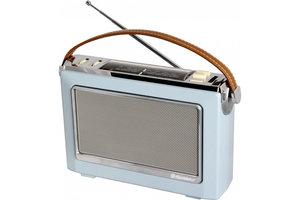 Draagbare MW/FM-radio Vintage - blauw